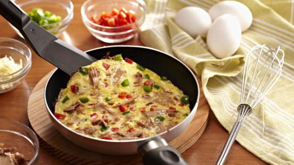 Tuna and Vegetable Omelette Recipe