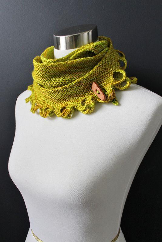 Miss Winkle knit pattern. Madelinetosh sock yarn in maple. Knit by Carol McKenna.