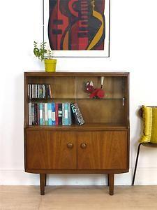 60's Retro Bookcase Sideboard