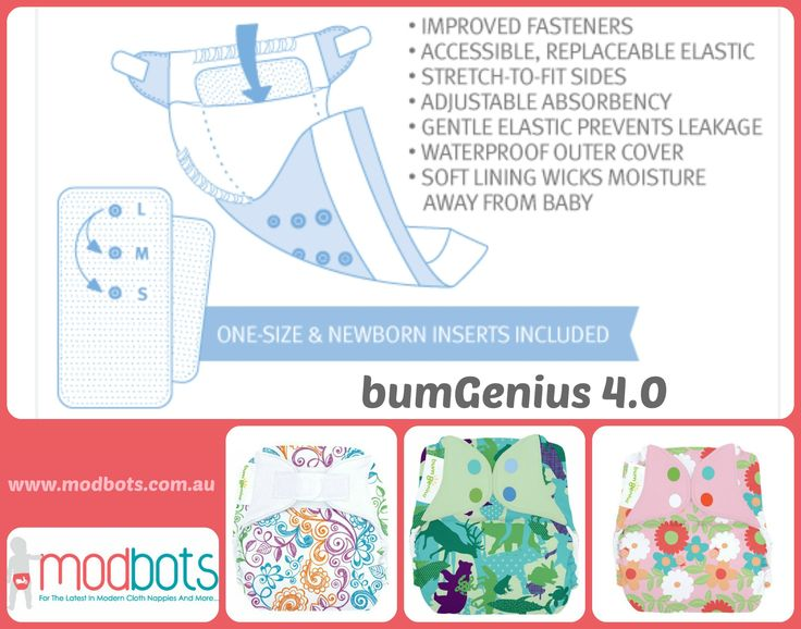 The reliable and trim bumGenius 4.0. At Mod Bots now!
