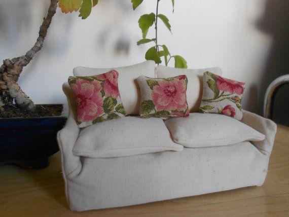 Cuscini per casa di bambole set di 3 mini di lepropostedimari