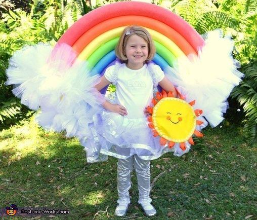 DIY Rainbow Costume - 2016 Halloween Costume Contest                                                                                                                                                                                 More