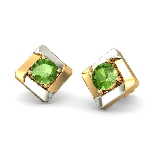 The Rhyah Earrings | Peridot Earring In 18KT Yellow Gold