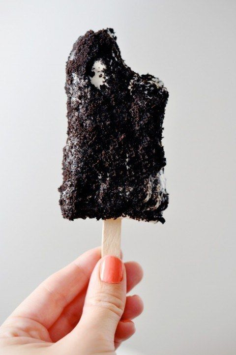 cookies and cream popsicles pops oreo chocolate icecream