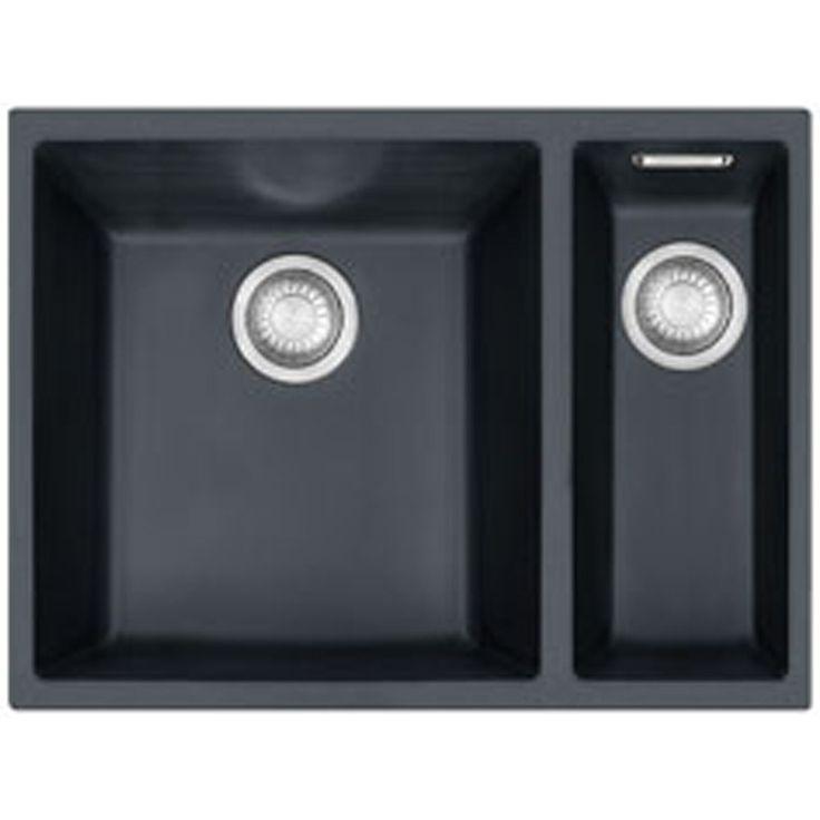 Franke Sirius 1.5 Bowl Onyx Black Tectonite Undermount Kitchen Sink SID160 BLK