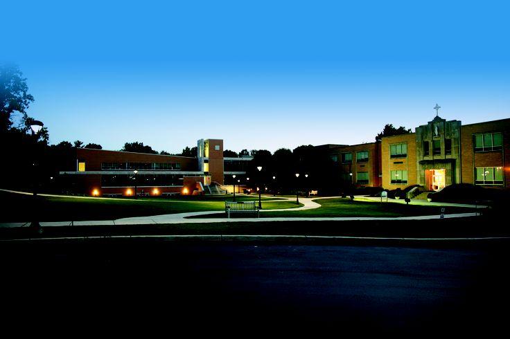 Twilight campus--so beautiful!