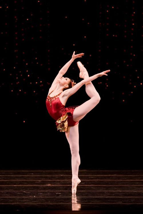"""Sofiane Sylve in """"Rubies"""", from the ballet """"Jewels"""" by George Balanchine."""