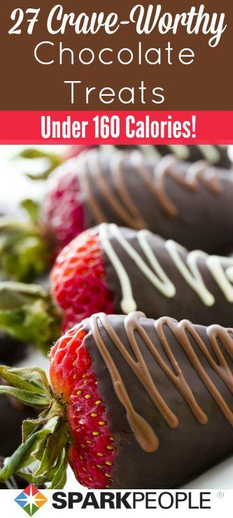 27 Sensible Ways to Satisfy Your Chocolate Cravings | via @SparkPeople #chocolate #dessert #healthyeating