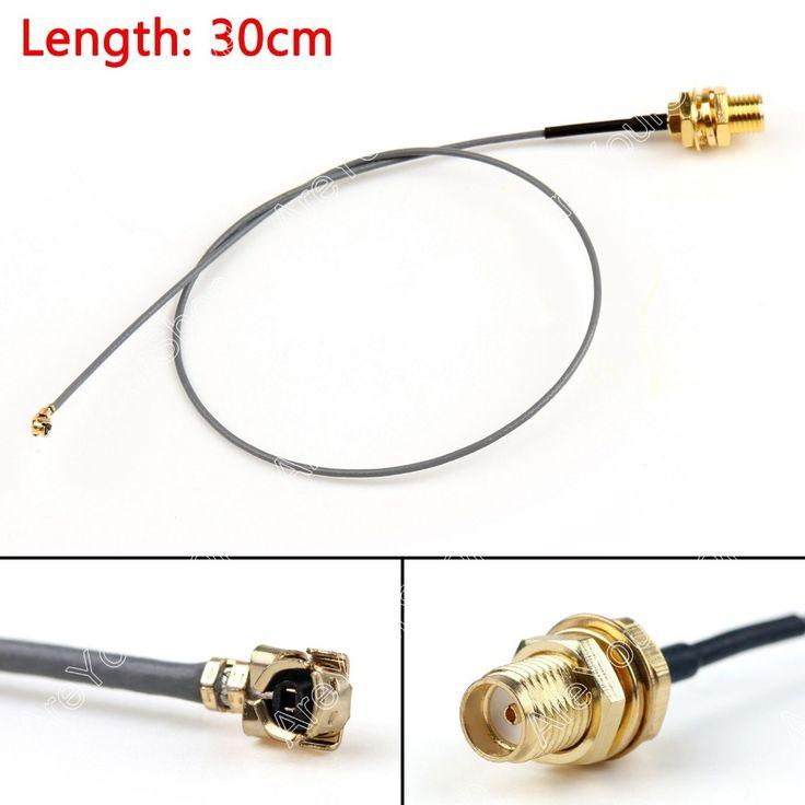 Vente 30 cm Câble SMA Femelle Cloison Jack À IPX U. FL PCI Carte 1.13mm Queue de Cochon 12in RF Haute Qualité Jackplug Fil connecteur
