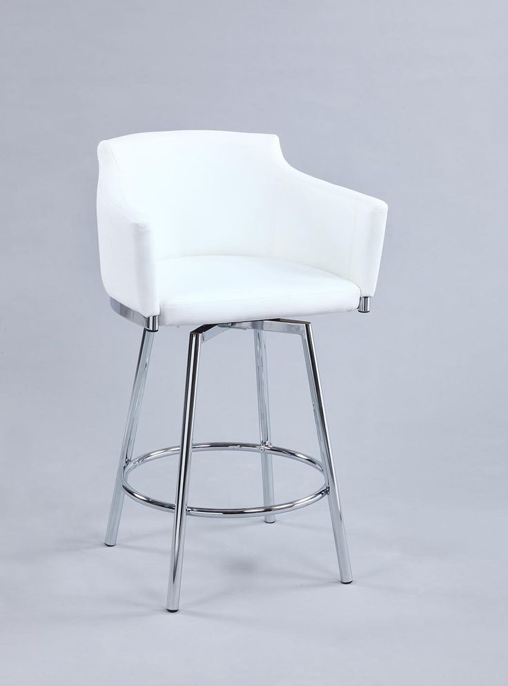 This handsome club style bar stool is the perfect addition to any modern dining environment, featuring swivel functionality, and an attractive chrome finish with plush upholstery. Specification – Product Dimension:W 22.24 X D 20.47 X H 40.35 In. – Shipping weight:28.67 lbs – Item Finish:Chrome – Metal chrome finish – White PU upholstery – Fire retardant foam – Swivel