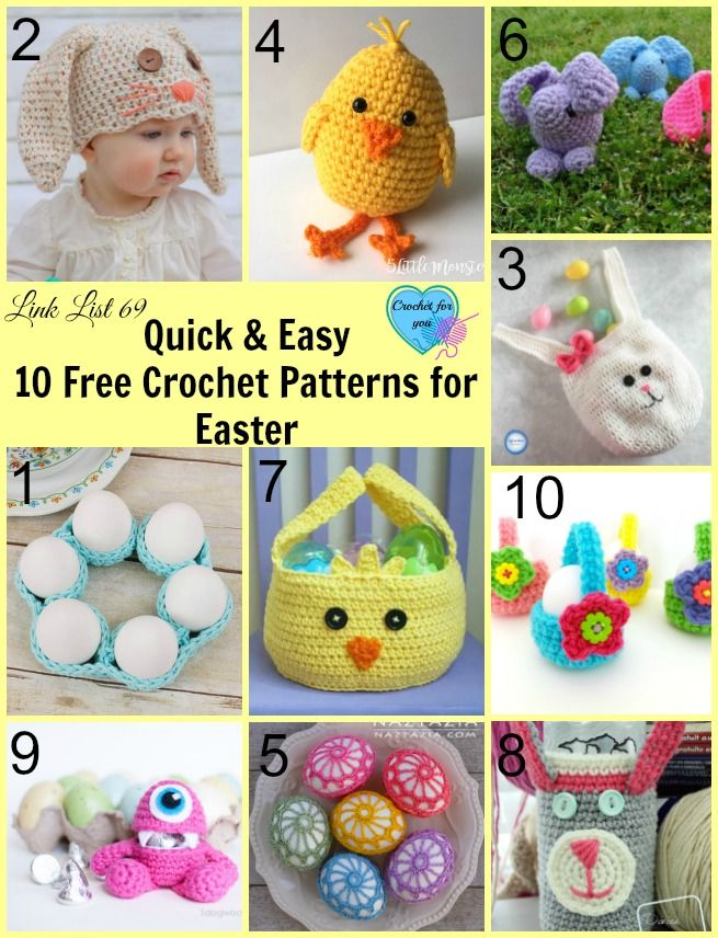 Quick and Easy 10 Free Crochet Patterns for Easter