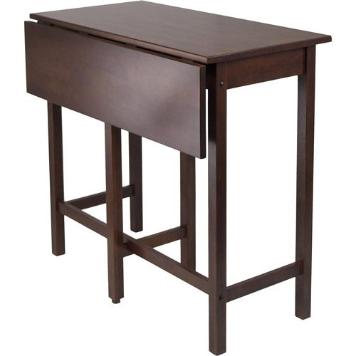 Portable Kitchen Island With Drop Leaf And Distressed Finish