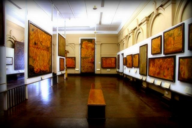 Dziś mały przegląd malarstwa cejlońskiego - demony, Budda i takie tam :)
