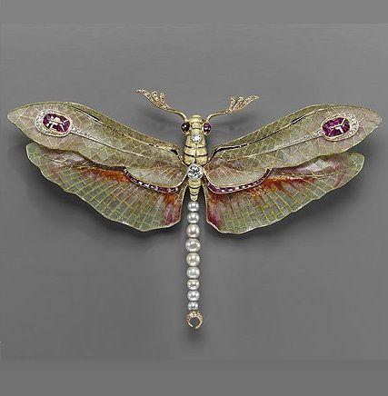 pendant-brooch, 1904. Philippe Wolfers (Belgian, 1858–1929). Platinum, gold, enamel, diamond, ruby, and pearl.