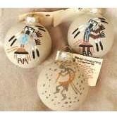 Navajo Sand Painted Southwest Christmas Ornament - Holiday Tree Ornaments Native American Made Ornaments - WEST BY SOUTHWEST DECOR