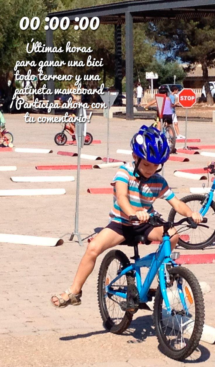 Este mes estamos regalando una bicicleta y una patineta waveboard  porque es el Día de la Niñez.