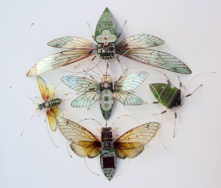 Julie Alice Chappell Artist - uses computer parts!
