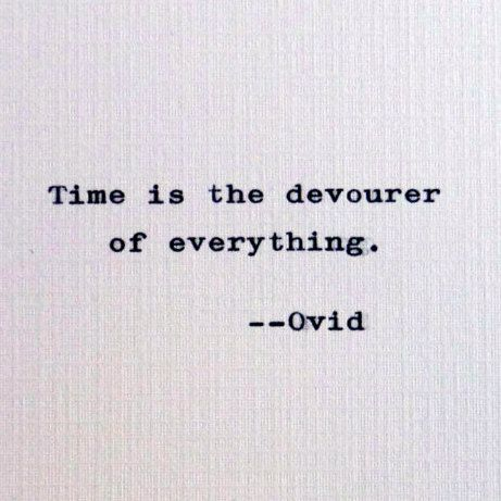 New to RogueryPress on Etsy: Ovid quote; time quotation by Roman poet (15.00 USD)