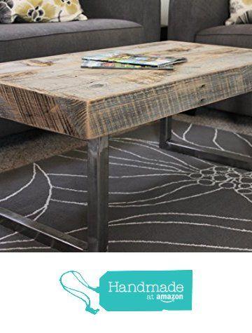Reclaimed Wood Coffee Table, Tube Steel Legs From Atlas Wood Co Https://