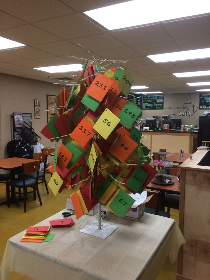 envelope fundraiser twist  combining giving tree with