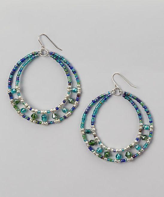 Beaded hoop earrings. Craft ideas from LC.Pandahall.com