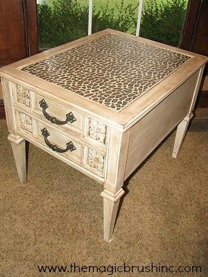 Cheetah Print Table