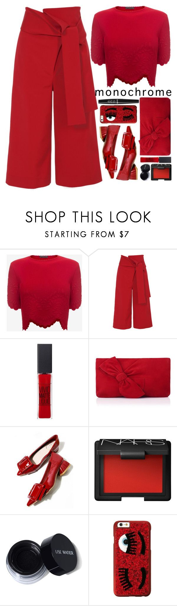 """""""Monochrome"""" by blueberrylexie ❤ liked on Polyvore featuring Alexander McQueen, TIBI, Maybelline, L.K.Bennett, NARS Cosmetics, Chiara Ferragni and NYX"""