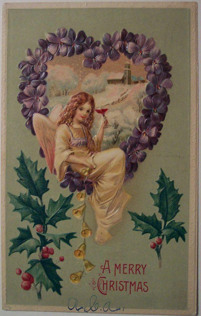 Vintage Christmas Postcard - Ange | Flickr - Photo Sharing!