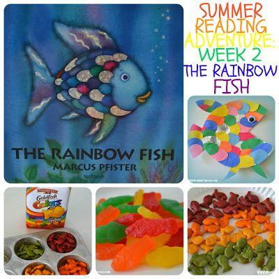 Summer Reading Adventure Week 2  - The Rainbow Fish   MomOnTimeout.com Fun Rainbow Fish book activities, crafts, and snack ideas!