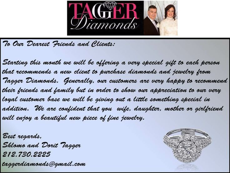 Recommend a new client and get a free piece of jewelry.