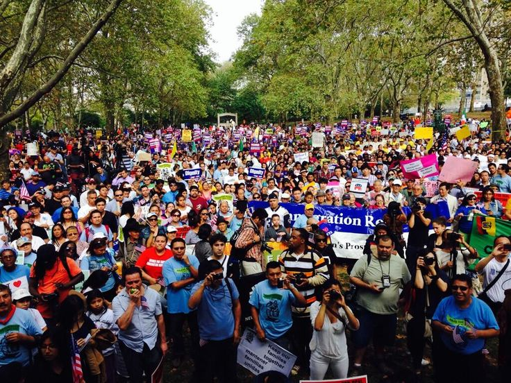 Via @lsarsour: This is what America looks like. #Oct5NYC #TimeIsNow #ImmigrationReform #Oct5