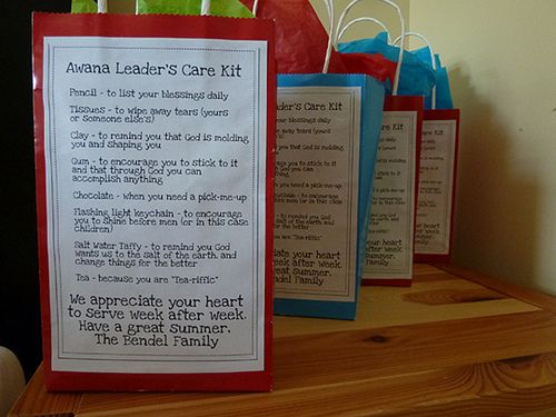 Finally, a survival kit for Awana Teachers and Leaders...