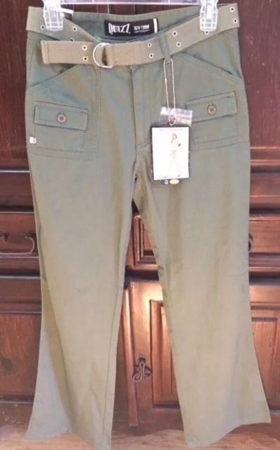 Quizz New York Crosstown Girl  Pants Juniors Ladies Jeans- army green -Size 7/8. | eBay