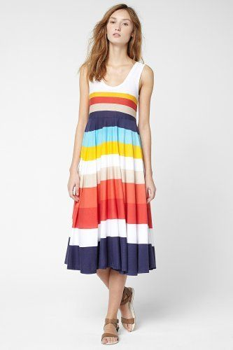 Lacoste Multi-Colored Bold Stripe Tank Dress : Dresses ($185.00) - Svpply