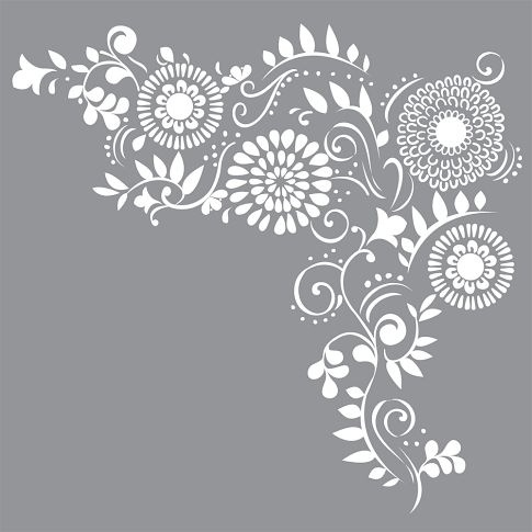 Oversized Floral Decal - gorgeous!