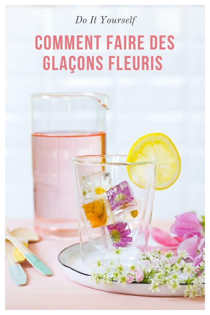 Comment faire des glacons fleuris / do it yourself glacons / diy ice cubes