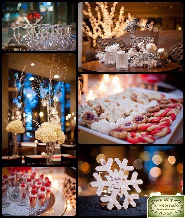Winter christmas wedding decor ideas with