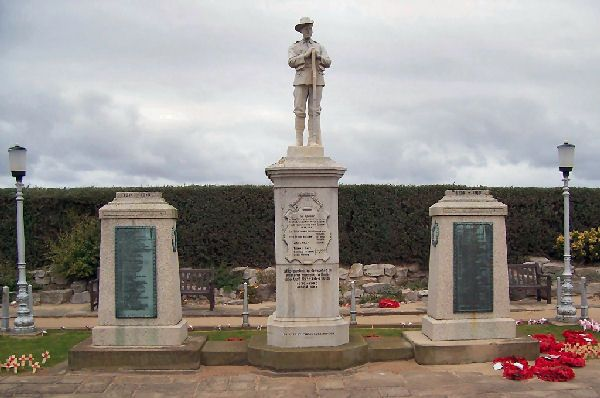 Rhyl War Memorial including those who were killed in the Boer War, WWI, WWII, Korea, NI and The Falklands.