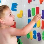 Kids 36pcs Soft Foam Letters and Numbers 36 pcs/set.  26 letters + 10 number.  Foam letters and numbers that stick to the tub wall So your kid will spell F-U-N as easy as 1-2-3.  26 floating letters (A-Z) and 10 floating numbers (0-9) Foam is soft, durable.  To clean, wipe with damp cloth and allow to air-dry. For ages: 3+ years old. Material: Foam.