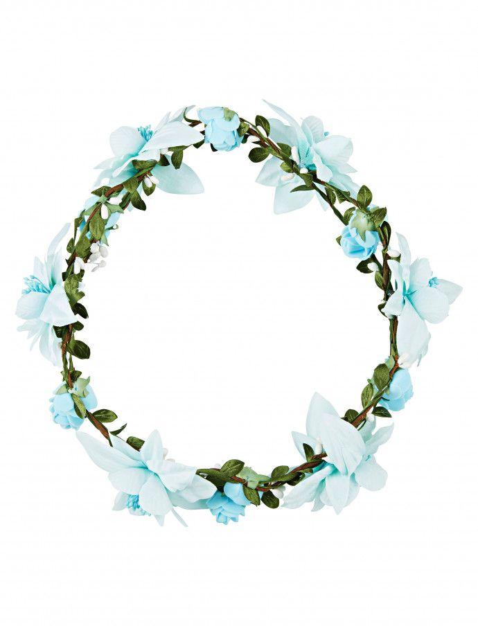 Blumen Haarkranz Hellblau Als Accessoire Deiters Blumen