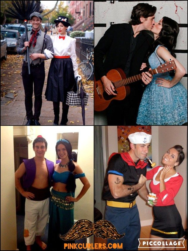 24 Couples Costume Ideas: Couples costumes are twice the fun. However, there are not as many obvious options for paired costumes. Every Halloween my husband and I think back to our favorite movies, scroll Pinterest and try to recall our friends' costumes. So, in the interest of all couples seeking this kind of inspiration, here's a collage of creative couples costumes.