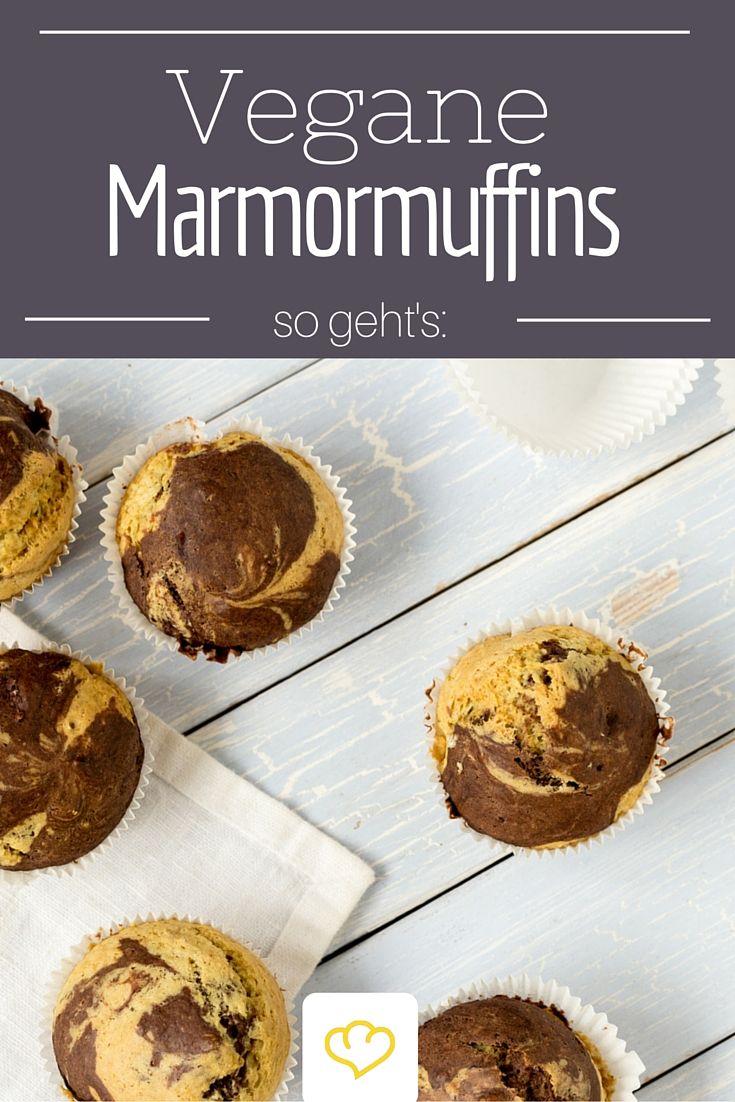 Vegane Marmormuffins - schmecken auch ohne Zusatz von Ei!