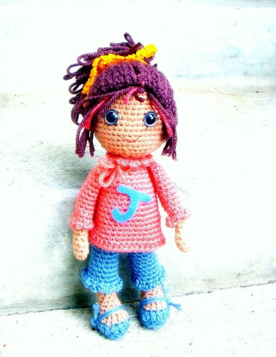 Amigurumi Doll Pdf : Joy amigurumi girl doll crochet pattern pdf