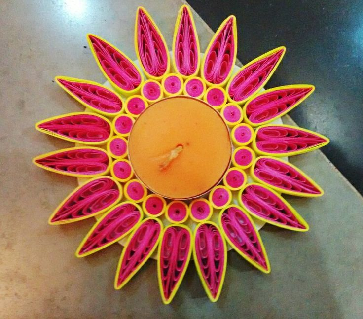 Quilling tea light candle holder