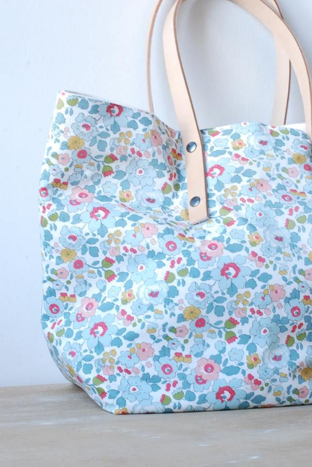 Sac en tissu liberty / liberty fabric bag!