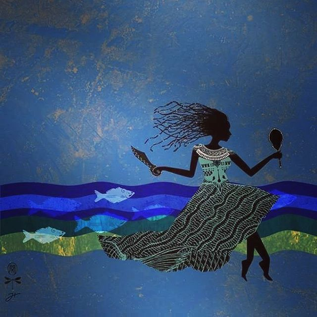 www.yolode.com.br Ilustração autoral.  Iemanjá, Rainha do Mar