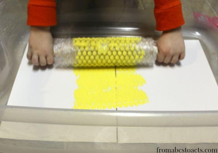 bee hive craft for preschoolers - b is for bumblebee