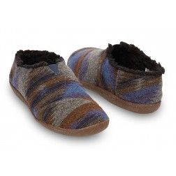 Toms Men's Blue Wool Men's Slippers