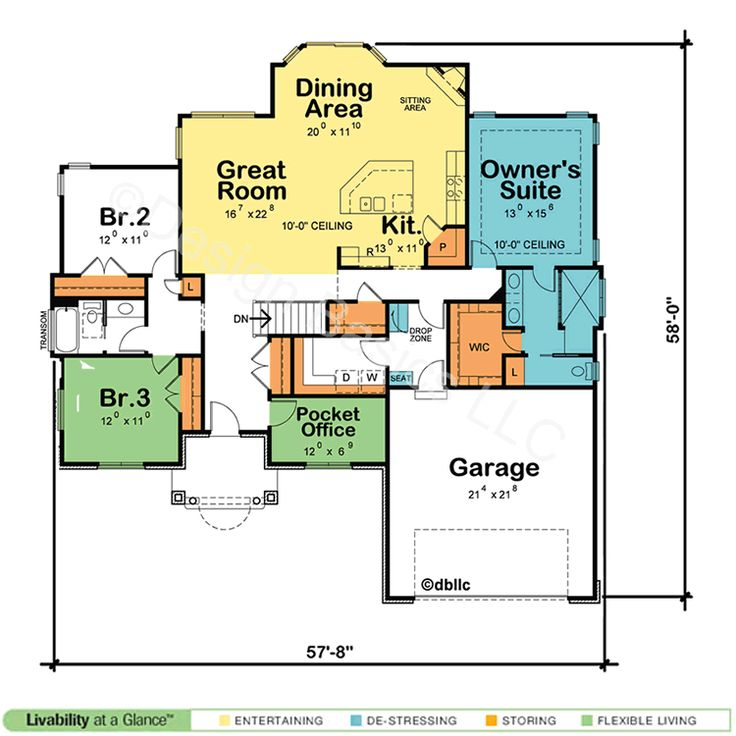 Best 25 one story houses ideas on pinterest house plans one story one floor house plans and One floor house plans