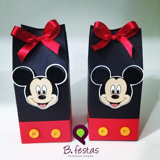 Mickey Mouse Gift Bag Favour Idea   B. Festas Blogspot